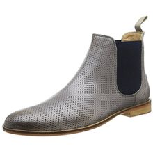 Melvin & Hamilton Susan 10, Damen Chelsea Boots, Grau (Salerno Perfo Ash Ela. Navy LS-Nat.), 41 EU (7.5 UK)