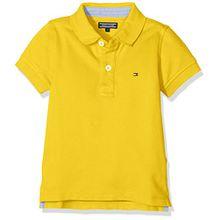 Tommy Hilfiger Ame Jungen Polo S/s Poloshirt, Gelb (Freesia 708),176 (Herstellergröße: 16)