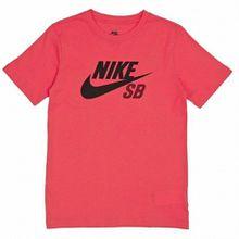 Nike SB Jungen T-Shirt Logo, Rot (Bright Crimson), Medium (Herstellergröße: 10-12Y)