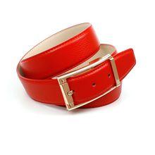 Anthoni Crown 3,4 cm roter Ledergürtel in Hirschprägung Ledergürtel rot Damen