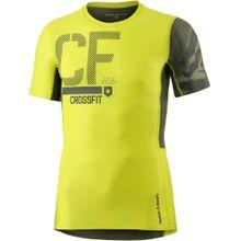 REEBOK Kompressionsshirt 'Crossfit' gelb / khaki