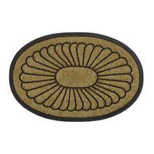 Kokos Fußmatte oval 60x90 cm beige
