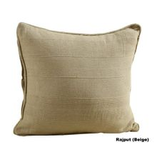 Homescapes Kissenhülle Rajput in Ripp-Optik Kissenbezug 45 x 45 cm aus 100% reiner Baumwolle mit Reißverschluss in beige