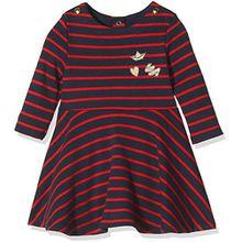 Petit Bateau Baby-Mädchen Kleid Robe ml, Mehrfarbig (Smoking/Froufrou 56), 92 (Herstellergröße: 24m/86cm)