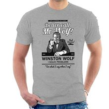 Better Call Mr Wolf Pulp Fiction Men's T-Shirt