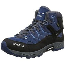 Salewa Unisex-Kinder JR Alp Trainer Mid GTX Trekking-& Wanderstiefel, Blau (Dark Denim/Charcoal 0365), 35 EU