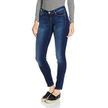 7 For All Mankind Damen Skinny Jeanshose THE, Gr. W26/L30 (Herstellergröße: 26), Blau (Bair Duchess 0DD)