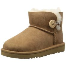 UGG Australia Mini Bailey Button, Unisex Kinder Stiefel, Braun (Chestnut), 12 UK