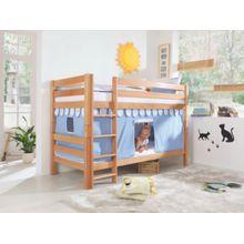 Relita Vorhangset Spielbett inkl. Hakenband, MAGNUM, BENI und JAN, blau hellblau  Kinder