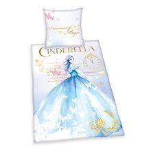 Herding 447914050 Bettwäsche Cinderella, Kopfkissenbezug: 80 x 80 cm und Bettbezug: 135 x 200 cm, 100% Baumwolle, Renforce
