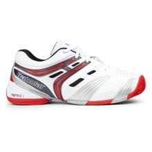 Babolat - V Pro Clay Unisex Tennisschuh (weiß/rot) - EU 40,5 - UK 7