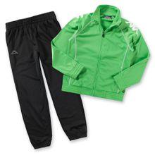 KAPPA Jogginganzug 'EPHRAIM' für Jungen grün / schwarz