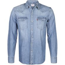 LEVI'S Jeanshemd 'Barstow Western' blau