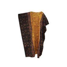 Cool Kaftans - Damen Top Kaftan Lang Baumwolle Somer Formelle Bekleidung Urlaub Kleid - Gold Schwarz, XXL