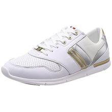 Tommy Hilfiger Damen Light Weight Leather Sneaker, Weiß (White 100), 41 EU