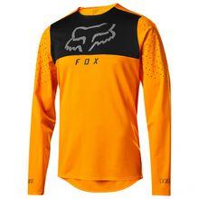 FOX Racing - Flexair Delta L/S Jersey - Radtrikot Gr L;M;S;XL;XS grün/türkis/blau/grau;grau/schwarz