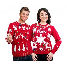 Make Your Own Ugly Christmas Sweater Red Sweater Kit (Adult S)