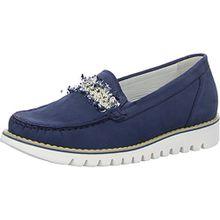 Waldläufer Habea 926503 191 206 Damen Slipper Komfort Weite H Denver Blau (Jeans), 41.5 EU/7.5 UK