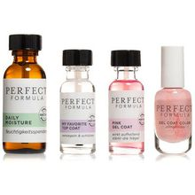 PERFECT FORMULA Maniküre-Öl 30ml, Pink Gel Coat 18ml, Topcoat 18ml & Color Gel Coat 8ml