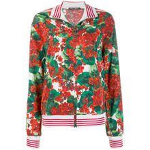 Dolce & Gabbana Bomberjacke mit Blumen-Print - Grün