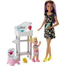 """Barbie """"Skipper Babysitters Inc."""" Puppen und Töpfchen-Training Spielset"""