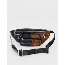 Glamorous - Gürteltasche mit Farbblockdesign und Zebramuster - Mehrfarbig