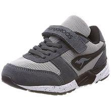 KangaROOS Unisex-Kinder Chinu EV 3 Sneaker, Grau (Steel Grey/Jet Black), 38 EU