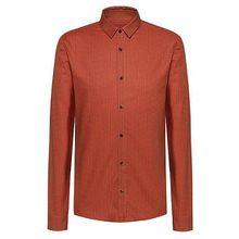 Extra Slim-Fit Hemd aus Oxford-Baumwolle mit feinem Print