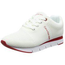 Calvin Klein Jeans Damen Tada Mesh Sneaker, Weiß (WHT 000), 39 EU
