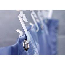 Euroshowers Ersatz-Duschvorhang, Haken und Gleiter für Schiene Bendi biegsam–erhältlich als 6er-, 12er-, 18er-, 24er-, 36er-, 48er-Pack weiß