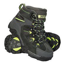Mountain Warehouse Rapid Stiefel für Kinder - Regenstiefel,Wanderschuhe, Kinderschuhe mit Robuster Laufsohle, Wanderstiefel mit Gesteppter Knöchelpartie Limette 30.5 EU