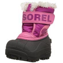 Sorel Childrens Snow Commander Unisex-Kinder Schneestiefel, Pink (Tropic Pink/Deep Blush), 24 EU