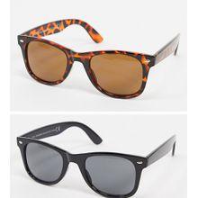 SVNX – Klassische, eckige Sonnenbrillen im 2er-Pack-Mehrfarbig