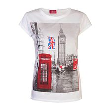 Love Lola  Damen T-Shirt Gr. Small, Weiß - Weiß