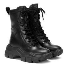 Ankle Boots Block aus Leder