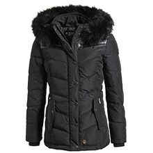 Khujo Damen Winterjacke Winsen II (BB+BF) 1082JK173 Black-Pes XL