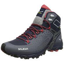 Salewa Damen WS Alpenrose Ultra Mid Gore-Tex Trekking-& Wanderstiefel, Mehrfarbig (Night Black/Mineral Red), 40.5 EU