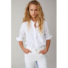 CLOSED Hemdbluse aus Popeline white