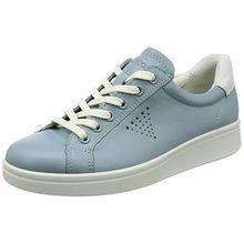 Ecco Damen Soft 4 Sneaker, Blau (Arona/White), 39 EU