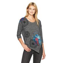 Desigual Damen T-Shirt TS_ELQUI 17WWTKJ1, Grau (Gris Vigore Claro 2042),DE: Small(Herstellergröße: Medium)