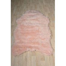 Fell Teppich Schaffell Lammfell Imitat Kunstfell Dekofell MIA bei 30 Grad waschbar aus 100% Polyester (080 x 150 cm Fell, rosa 015)