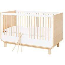 Kinderbett ROUND, Ahorn, weiß, 70 x 140 cm