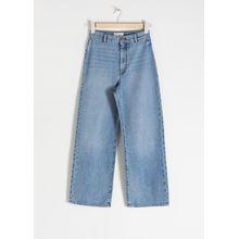 Organic Cotton Wide Jeans - Blue