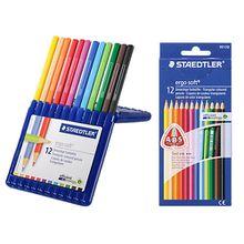 Aquarell-Buntstifte ergo soft, 2 x 12 Farben, inkl. Aufstellbox