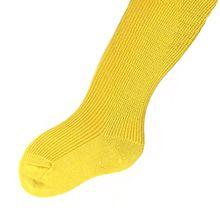 Kinderstrumpfhose 100% Baumwolle uni viele Farben, Farben alle:gelb;Größe:98/104
