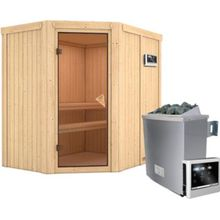 Karibu Finnische Sauna inkl. Ofen & Zubehör 196x151x198 cm natur