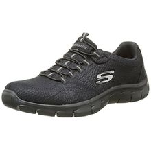 Skechers Damen Empire Take Charge Sneakers, Schwarz (BBK), 35 EU