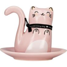 """Ringhalter """"Katze Oh K"""" rosa"""