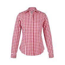 Damen Almsach Trachten-Bluse rot-weiß kariert 'Maria', rot, 50