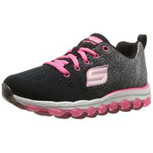 Skechers Air Ultra - Glitterbeam, Mädchen Sneaker, Black (Black/Neon Pink), 38 EU (5 UK)
